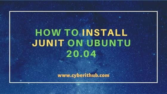 How to Install JUnit on Ubuntu 20.04 in 4 Practical Steps 11