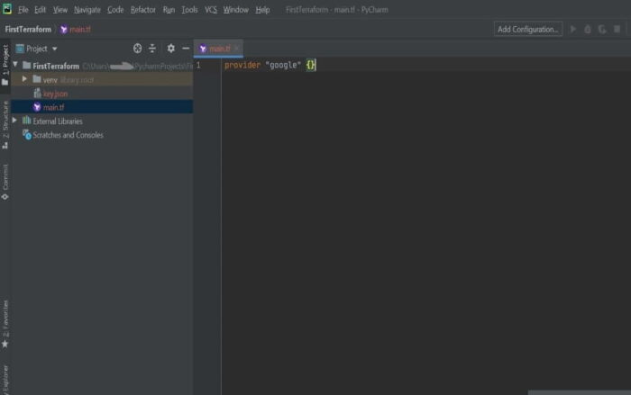 Step by Step Guide to Setup Terraform in PyCharm on Windows 10 4