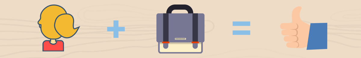 Image of back + backpack = thumbs up