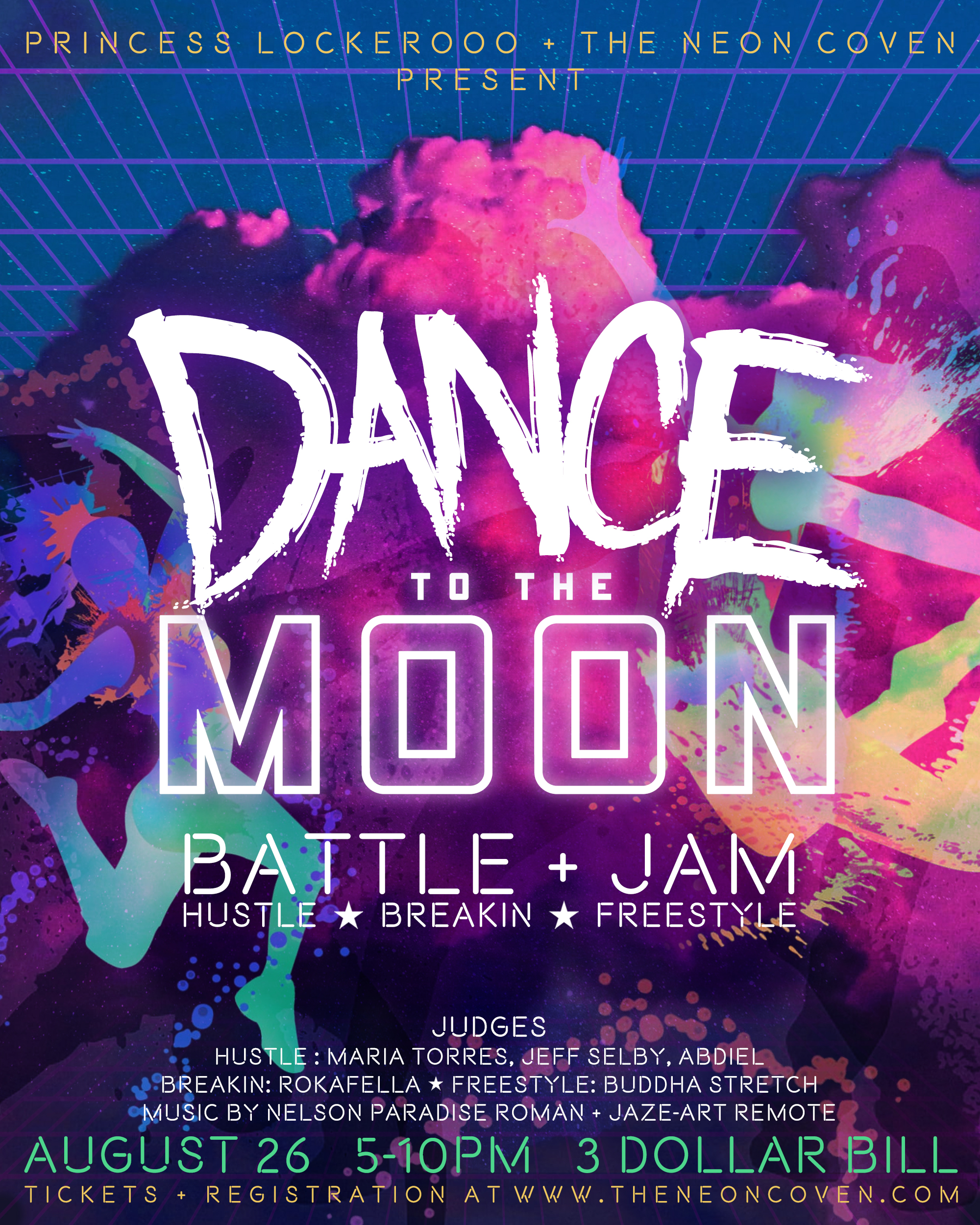DANCE TO THE MOON poster