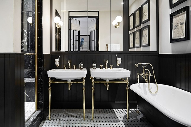 Best Paint Color For Black And White Tile Bathroom