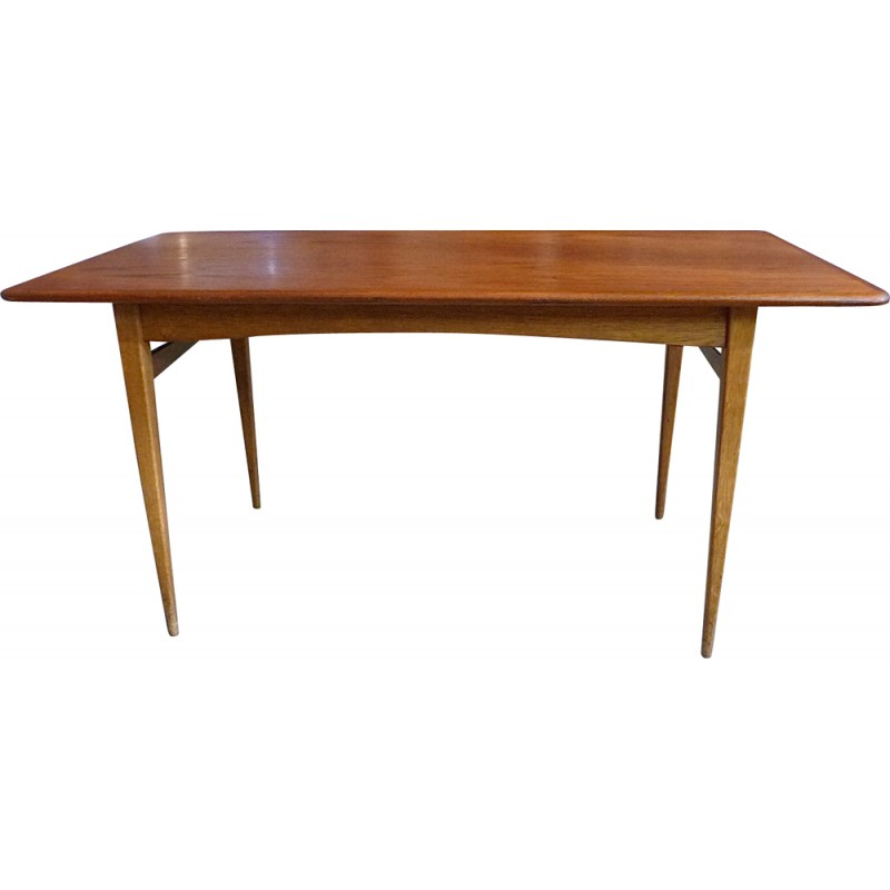 Mid Century Danish Modern Teak Coffee Table 1960s Design Market