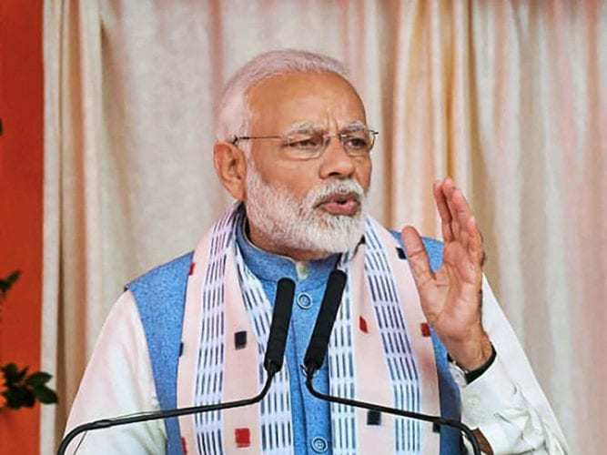Amid Rafale row Modi says def projects pending for decades have materialised will take tough decisions that are necessary for nation