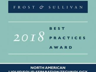 Huber Technology Earns Acclaim from Frost & Sullivan for its Region-centric Liquid/Solid Separation Technology for the North America Market
