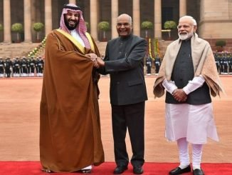 Saudi Crown Prince given ceremonial reception in Delhi, India expects talks on Pak-sponsored terror