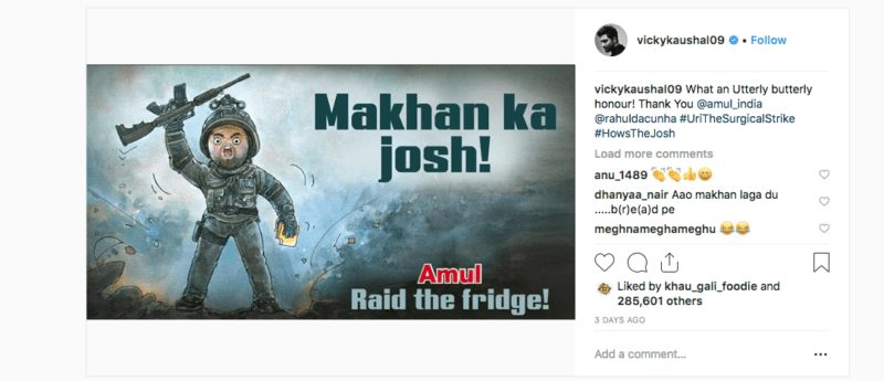 Vicky Kaushal responds to Amul after its delicious tribute to 'Uri: The SurgicalStrike'
