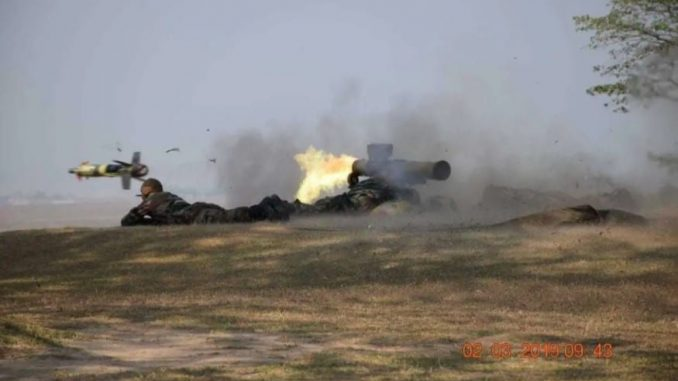 Eastern Command Test Fires Anti-Tank Guided Missile under GOC 33 Corps Gen Mohanty