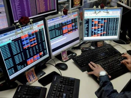 Equity indices end flat, banking stocks gain