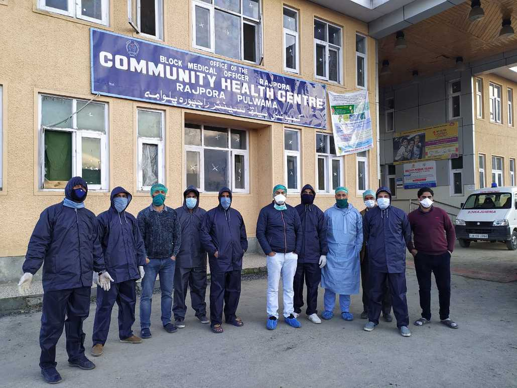 The group, called as Rajpora Volunteer Development Committee (RVDC), has been working in the area from the last month to decontaminate and sanitize religious places among others.