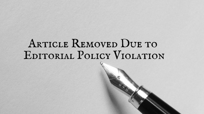 Article Removed Due To Editorial Policy Violation - Digpu News
