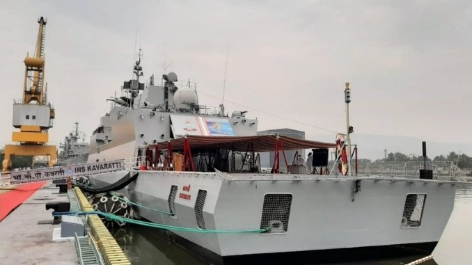 'INS Kavaratti' Warfare Corvette Anti-Submarine commissioned into Indian Navy
