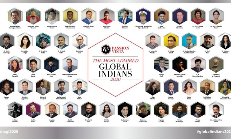 Passion Vista Most Admired Global Indians 2020 -Unified Brainz