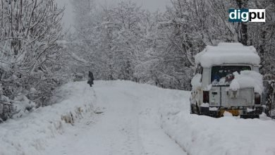 Flights cancelled; highway closed due to incessant snowfall in Kashmir - Digpu News