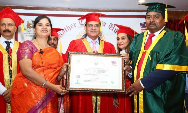 Dr Hari Krishna Maram honoured with D.Litt in the field of Digital Revolution