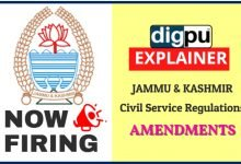 Changes in Jammu & Kashmir Civil Service Regulations