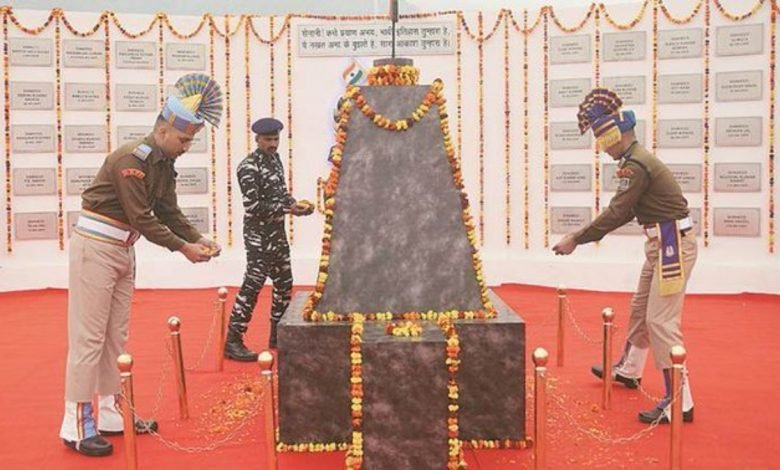 CRPF pays floral tributes to personnel killed in Pulwama terror attack