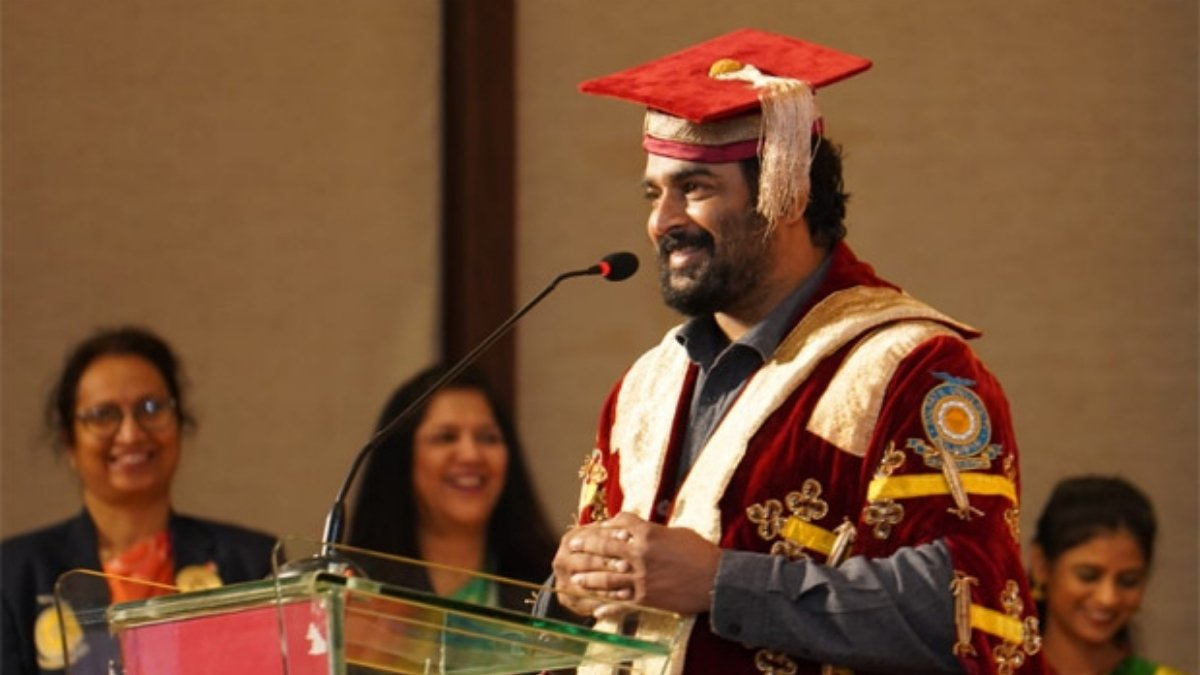 R. Madhavan receives Doctor of Letters for his contribution to arts and films