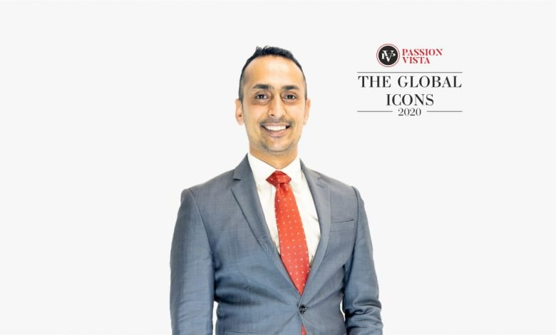 "Himanshu Patel was felicitated as Passion Vista's ""The Global Icon 2020"""