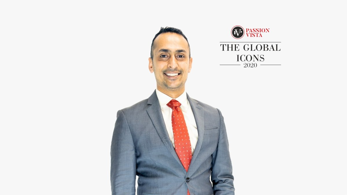 """Himanshu Patel was felicitated as Passion Vista's """"The Global Icon 2020"""""""