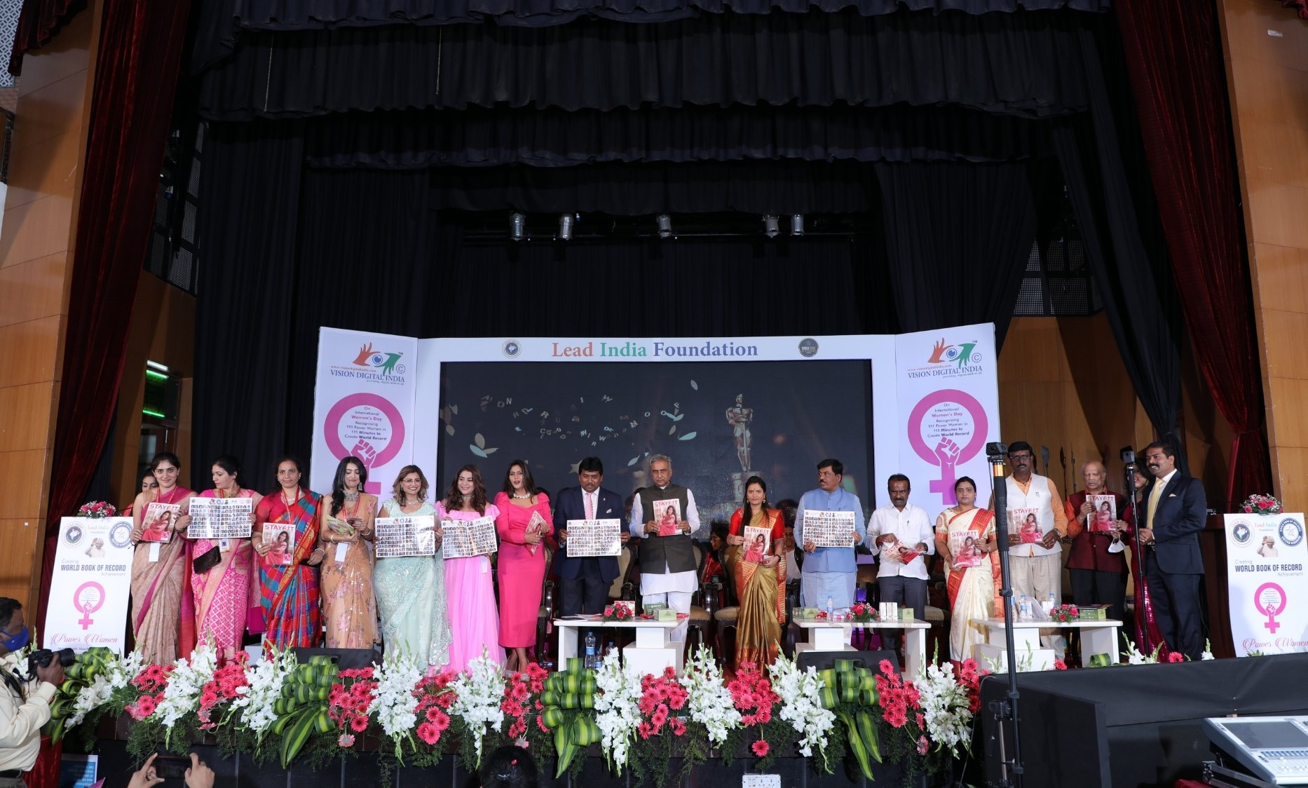 Lead India Foundation Creates World Record By Honouring 111 Women in 111 Minutes - Digpu News