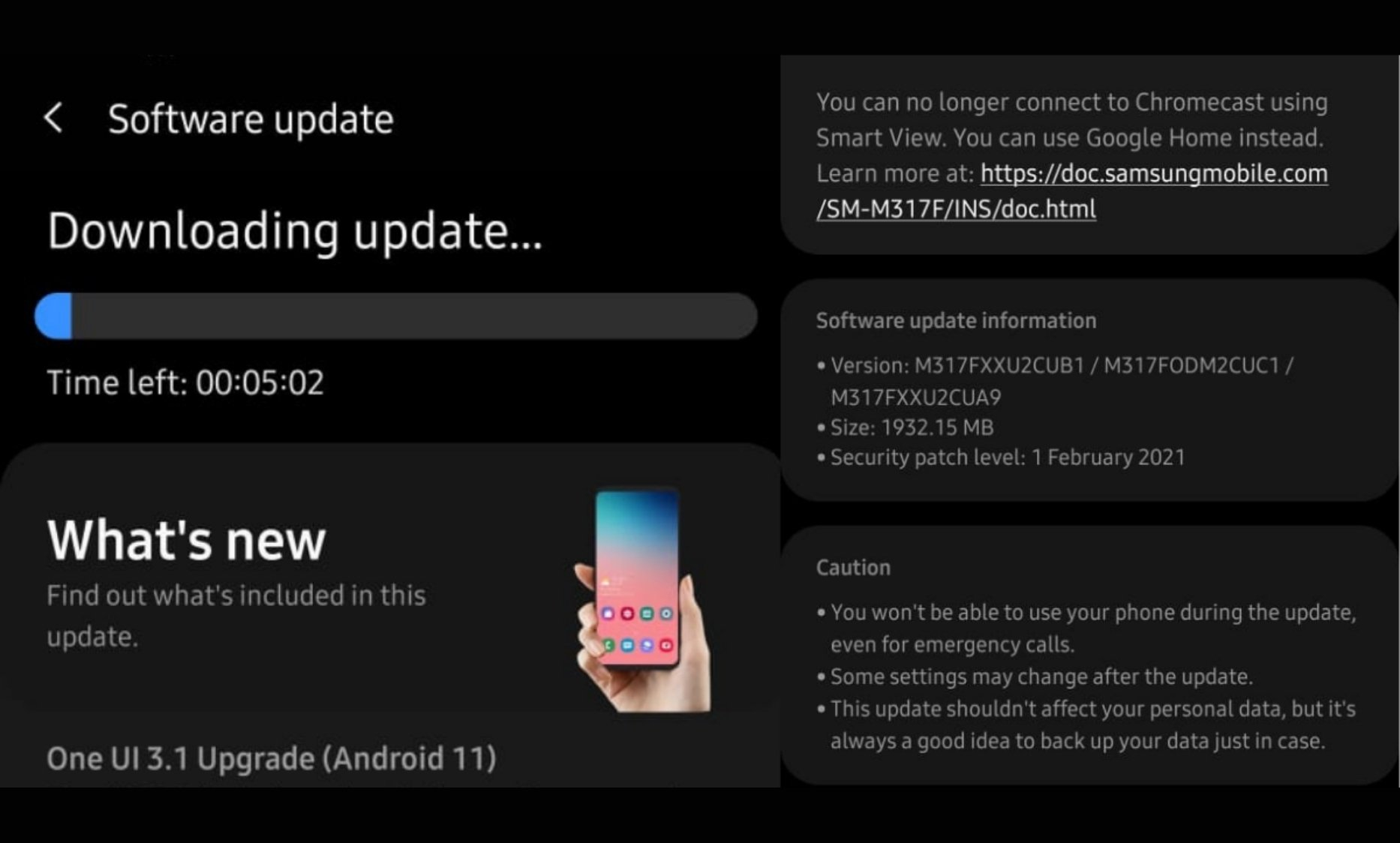 Samsung pushes out One UI 3.1 Upgrade (Android 11) for Samsung M31s in India - Digpu News