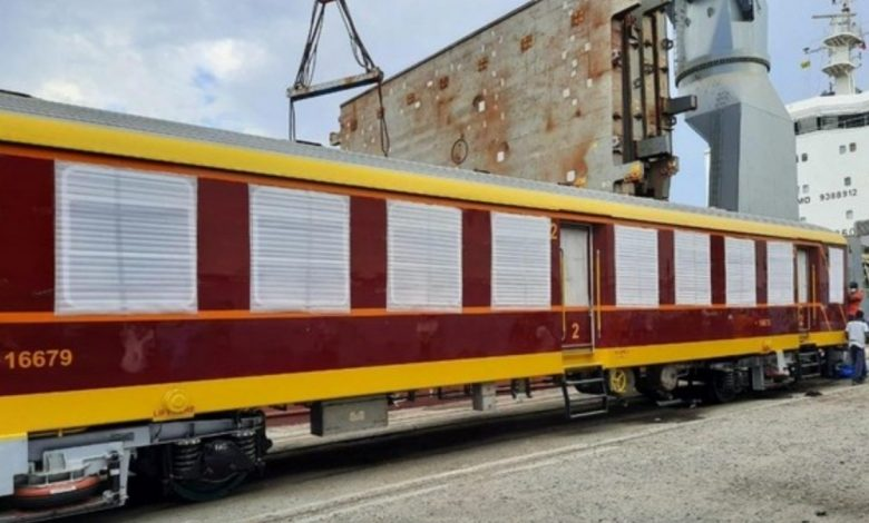 Sri Lanka receives 10 state-of-the-art railway passenger coaches from India