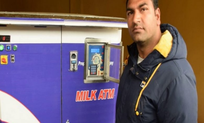 First 'Milk ATM' installed in Kashmir's Pulwama
