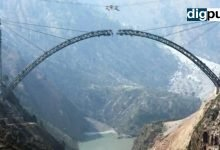 Arch of world's tallest railway bridge on Chenab River completed in J&K - Digpu News