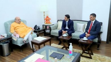 Adar Poonawalla With Amit Shah in a meeting