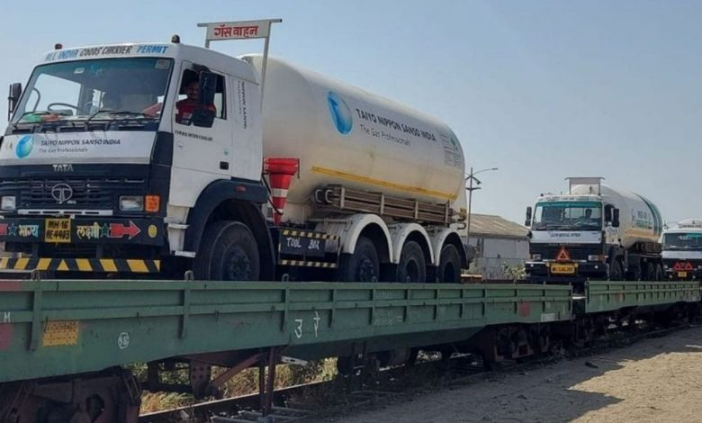 Railways delivered nearly 1125 MT of Liquid Medical Oxygen to various states