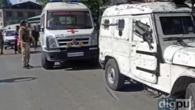 Visuals after BJP Sarpanch, his wife killed in Anantnag