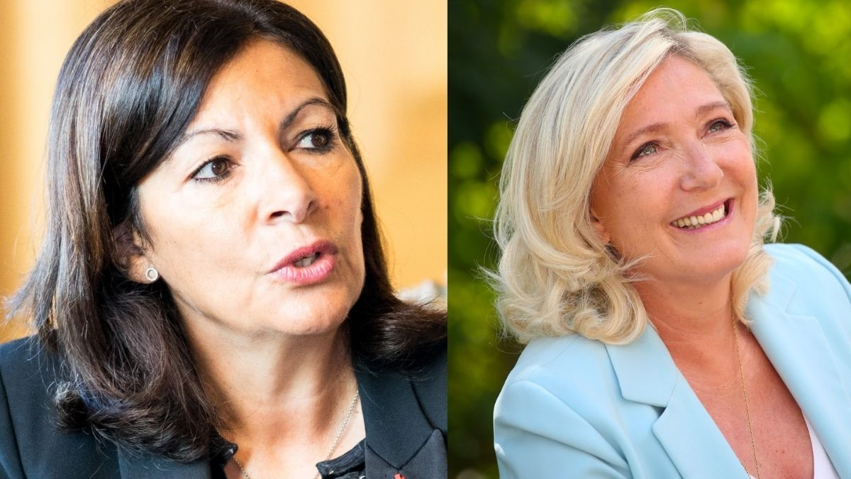 Marine Le Pen and Anne Hidalgo announce bids to become the first female French president