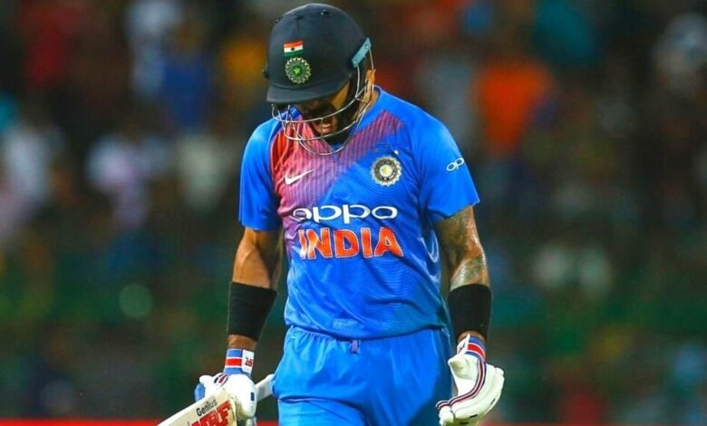 Virat Kohli while being dismissed in a match