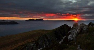 Sunset over Blasket Islands.