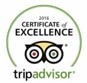 Certificate of Excellence trip advisor