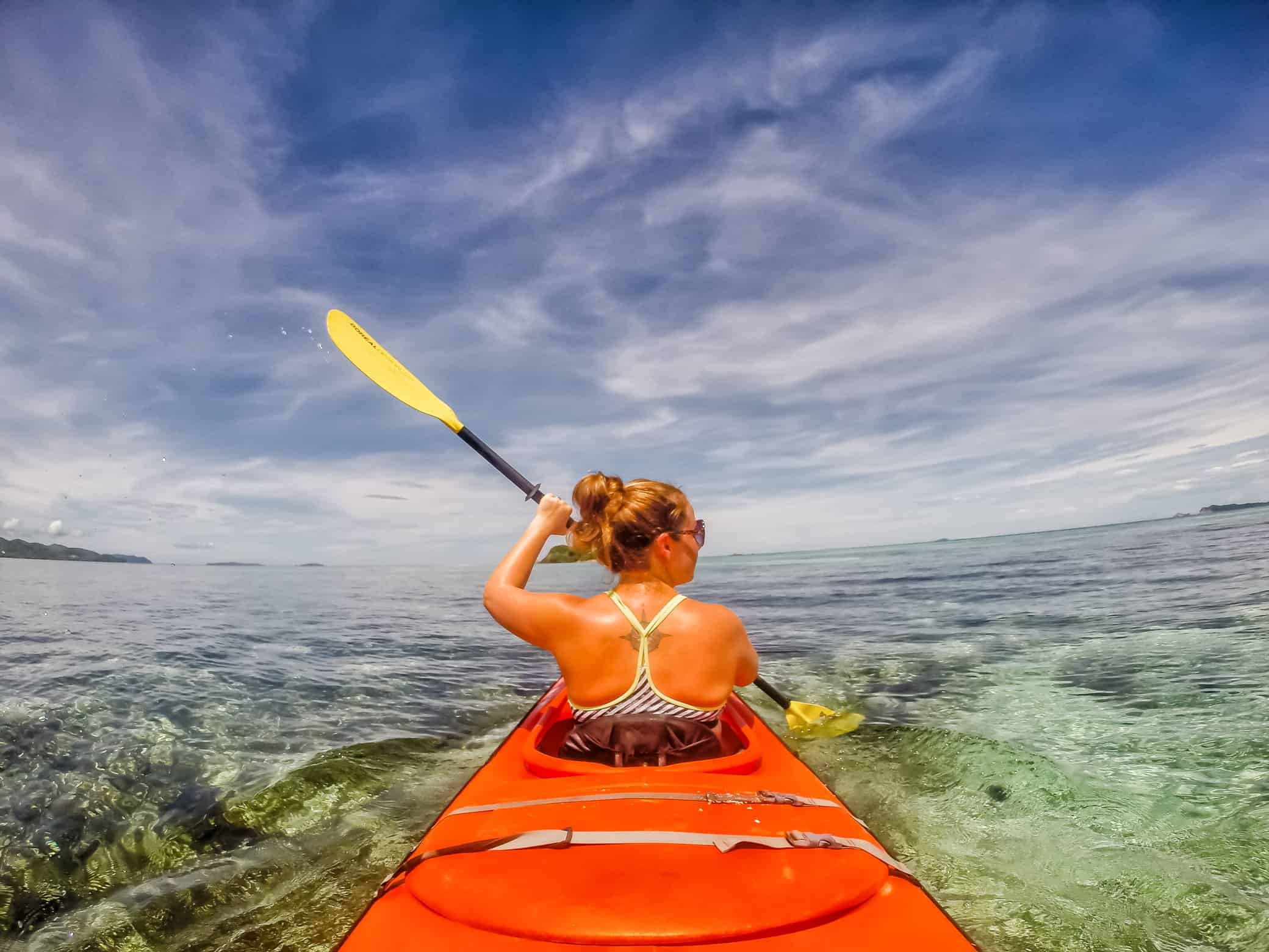 Lina Stock kayaking
