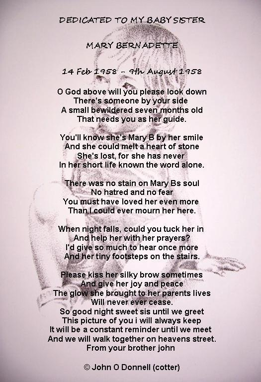 Brother Death Poems From Sister 6