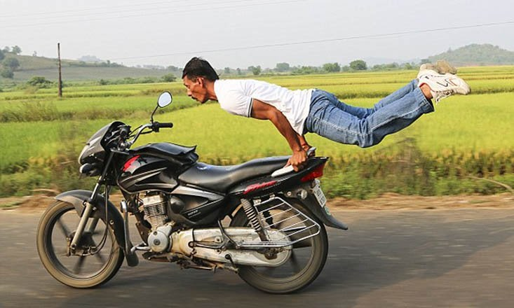 Daredevil Yoga: Man Does Yoga on a Speeding Motorcycle (With Video)