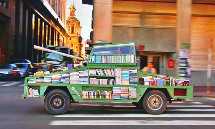 This Tank-Shaped Bookmobile Is on a Mission to Spread Knowledge
