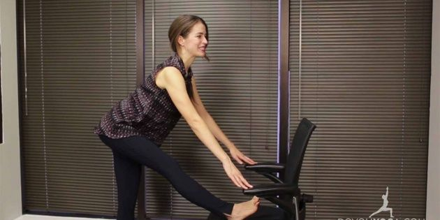 Office Yoga for Lower Back Pain