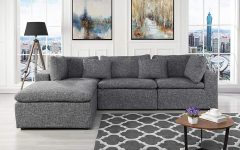 2pc Crowningshield Contemporary Chaise Sofas Light Gray