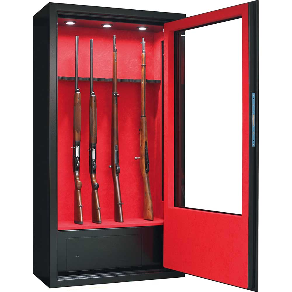 Armoire Forte Infac Vitree 10 Armes Lunette Coffre Eclairage