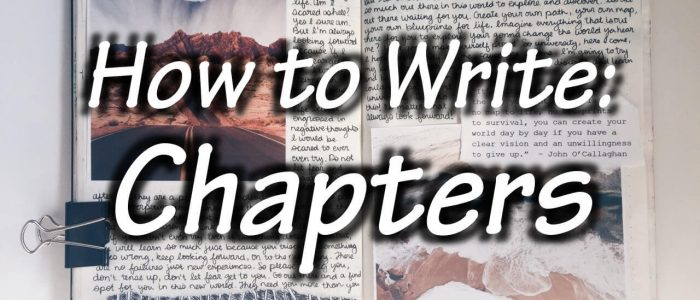 How to write chapters