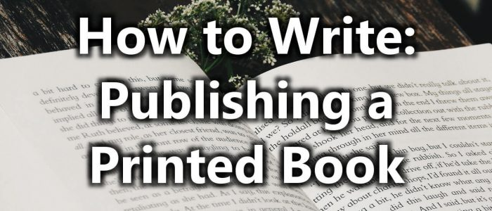 How to Publish a Print Book