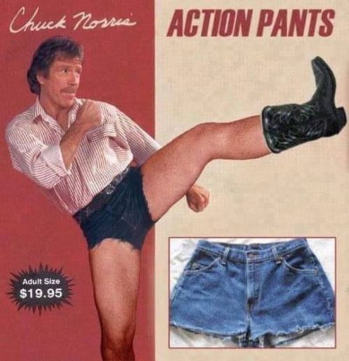 funny chuck norris action pants
