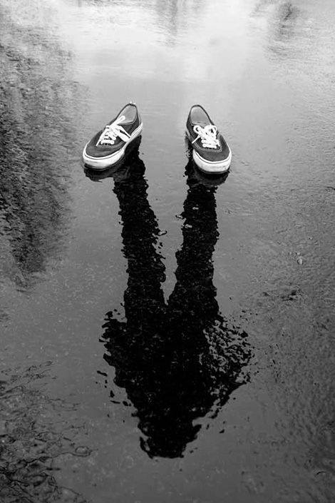 shoes, photographer, shadow