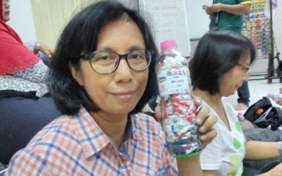 Lies just ecobricked 210 g of plastic out of the Semarang, Indonesia biosphere…