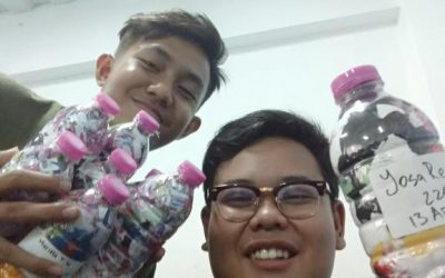 Yosa just ecobricked 220 g of plastic out of the Semarang, Indonesia biosphere…
