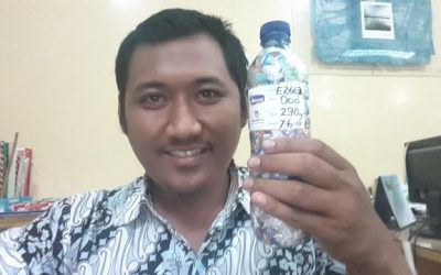 Lantip just ecobricked 290 g of plastic out of the Semarang, Indonesia biosphere…