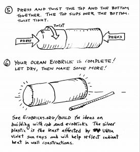How to seal an ocean ecobrick